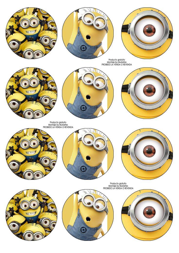 07aa1e48a3c8424f6fbe2aa40efcf73e--minion-cupcake-toppers-minion-cupcakes