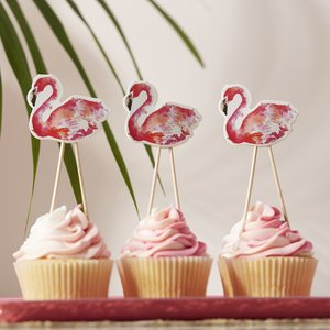 flamingo-cupcake-toppers